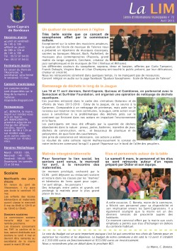 Lettre d'Informations Municipales n°72 - Avril 2015